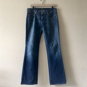 7 FOR ALL MANKIND Blue Bootcut Jeans. Sz 30.